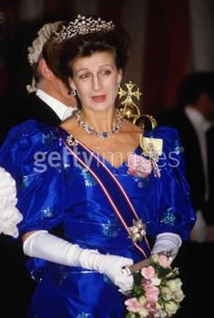 Later still, Princess Alexandra added sapphires to the floral tiara when they suited her gown and other elements of her jewels