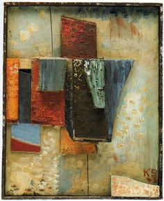 Kurt Schwitters | Coloured wood construction, 1943 Oil, wood on wood