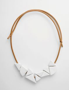 Jujumade stoneware wedge necklace at Bird : ShopBird.com