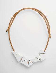 Jujumade stoneware wedge necklace at Bird : ShopBird.com
