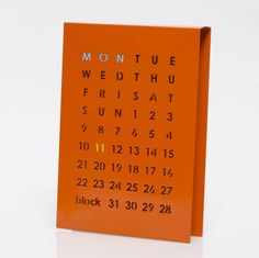 Magnetic Perpetual Calendar, Orange by Block Design, the perfect gift for Explore more unique gifts in our curated marketplace. Red And Blue Make, Unique Gifts, Great Gifts, Magnetic Calendar, Contemporary Office, Perpetual Calendar, Block Design, Dream Decor, Magnets