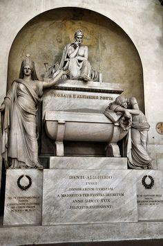 Florence - Dante Alighieri's Cenotaph in Basilica of Santa Croce, #TuscanyAgriturismoGiratola
