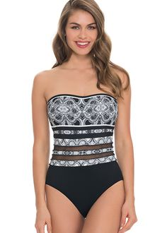 Gottex Profile Madeira Bandeau Swimsuit