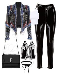 """Untitled #4573"" by magsmccray on Polyvore featuring Alexander Wang and Yves Saint Laurent"