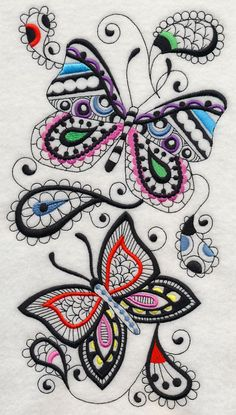 Black Work Machine Embroidery Designs | xl butterfly elegance blackwork a blackwork snowflakes design pack md