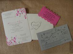 faire part mariage champtres rose et gris - Etsy Faire Part Mariage
