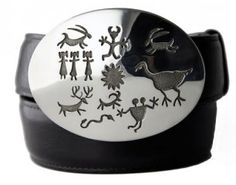 Petroglyph Buckle #beltbucklesbags #shopsantafe https://tomtaylorbuckles.com