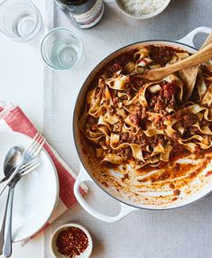 Giada De Laurentiis can't live without these six pantry staples. Find out which Italian ingredients she loves, like Calabrian chili paste and fancy dried pasta. Ground Lamb, Ground Beef, Calabrian Chili Paste, Ragu Recipe, Thing 1, Giada De Laurentiis, Bolognese, Pasta Dishes, Kitchens