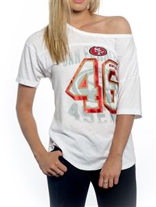 Women's San Francisco 49ers Design Your Own Short Sleeve Fitted T-Shirt