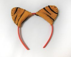 TIger Ears headband Imaginative Play MakeBelieve by UpcycleBebe