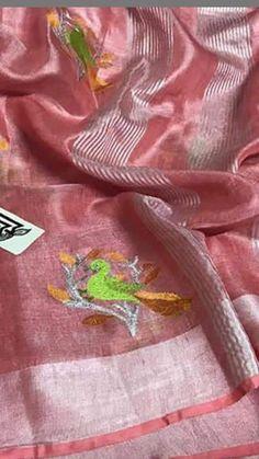 Linen tissue sarees | tissue linen sarees online | linen sarees wholesale | linen sarees with price | linen sarees manufactures | linen sarees with wholesale price | linen sarees with embroidery Wholesale Linens, Embroidery Saree, Saree Wedding, Sarees Online, Silk Sarees, Pure Products, Fashion, India, Moda