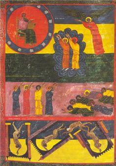 L'Ange montre le Trône de Dieu. Les deux Témoins. Apoc. XI - Facundus