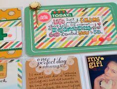 Love this card! Striped paper, white border, stitching.  Suzy Plantamura