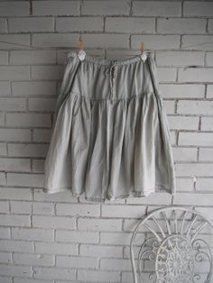 hand dyed bohemian skirt ladies casual skirt taupe by ShabbyRoad