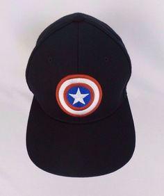 Marvel Avengers Captain America Comics Baseball Cap Snapback Hat Black OSFM  #Marvel #BaseballCap