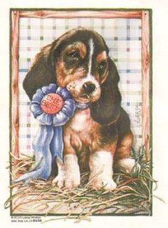 Prize Puppy HEAT PRESS TRANSFER for T Shirt Tote Sweatshirt Fabric Block #288c  #AB