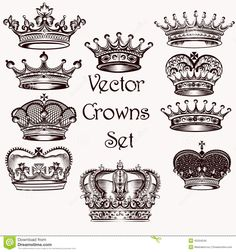Collection Of Vector Hand Drawn Crowns For Design - Download From Over 49 Million High Quality Stock Photos, Images, Vectors. Sign up for FREE today. Image: 45204549