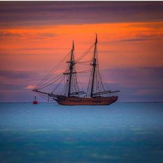Sunrise at the Tall Ship Enterprize on the recent visit by the ship to Port…