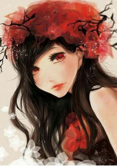 New Flowers Crown Ilustration Anime Art 25 Ideas Beautiful Anime Girl, I Love Anime, Kawaii Girl, Kawaii Anime, Anime Naruto, Manga Anime, Sarada Uchiha, Ecchi, Zooey Deschanel