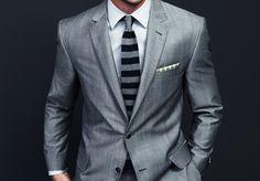 Love a grey suit.