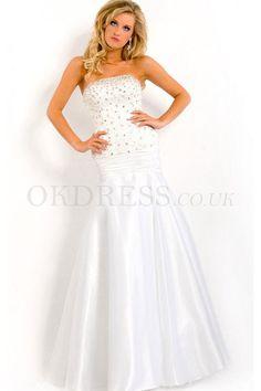 Chiffon Floor-Length Natural Sleeveless Long Formal Dresses - by OKDress UK
