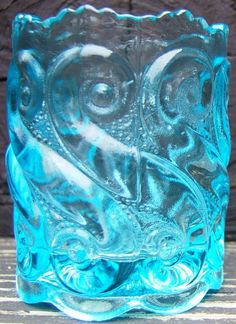Check out Toothpick Holder Blue Art Glass raised Retro S design Vintage  http://www.ebay.com/itm/Toothpick-Holder-Blue-Art-Glass-raised-Retro-S-design-Vintage-/151842572959?roken=cUgayN&soutkn=3bc3Ml via @eBay
