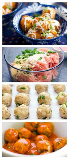 Slow-Cooker Buffalo Chicken Meatballs, yes please! Easy and fun recipe for game day parties!