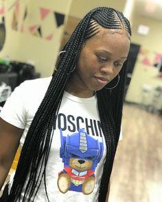 Easy & Trending Braids Hair Style Ideas - Nicole Style World Box Braids Hairstyles, Lemonade Braids Hairstyles, Braided Hairstyles For Black Women, Girl Hairstyles, Natural Hair Braids, Braids For Black Hair, Curly Hair Styles, Natural Hair Styles, Braided Ponytail