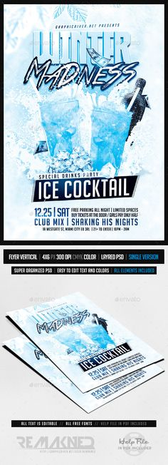 Sensual Sexy Party Flyer Party flyer, Flyer template and Template - winter flyer template