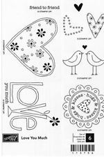 STAMPIN UP LOVE YOU MUCH STAMPS -