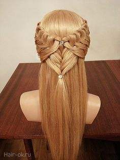 СЕКРЕТЫ КРАСОТЫ. Две красивые причёски для длинных волос