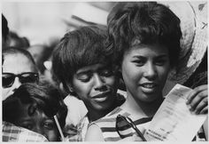 Young women were a significant part of the Civil Rights movement and the March on Washington. One of the lesser-known facts about the March is that there were two lines of civil rights leaders marching on separate streets: one for male civil rights leaders and one for their female counterparts. Image: National Archives Identifier 542022.