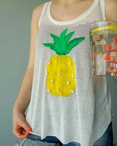 Trendy Pineapple DIY Shirt Design