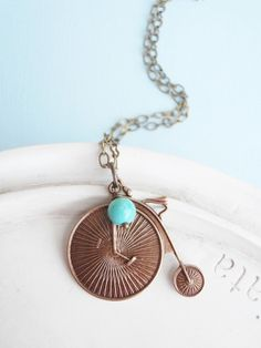 Circus bicycle necklace