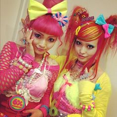I think these two love pink and yellow. I love them so cute x