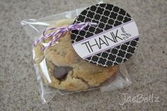 free printable thank you tag- attach to all bake sale items
