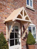 """Timber Front Door Canopy Porch, """"BLAKEMERE SCROLLED GALLOWS""""awning canopies Door Canopy Porch, Awning Canopy, Canopy Curtains, Canopy Bedroom, Window Canopy, Fabric Canopy, Timber Front Door, Front Door Porch, Logs"""