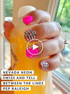 Fun neon and striped manicure in a snap at home! Neon pink nails and white and black stripes so quick and easy. Color Street let's you customize your own creative manicure in minutes! Nail Art Stripes, Black Stripes, Neon Pink Nails, Shops, French Tip Nails, Blue Chevron, Holographic Nails, Birthday Nails, Color Street Nails