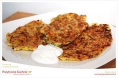 Placki ziemniaczano-cukiniowe - #przepis na placki z cukinii i ziemniaków  http://pozytywnakuchnia.pl/placki-cukiniowe-z-ziemniakami/  #cukinia #ziemniaki #placki #obiad