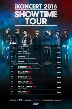 "iKON to hold ""iKONCERT '16 SHOWTIME TOUR"" in Southeast Asia  - http://www.kpopvn.com/ikon-to-hold-ikoncert-16-showtime-tour-in-southeast-asia/"