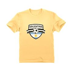 412592a71 Argentina Soccer Team Fans Youth Kids T-Shirt