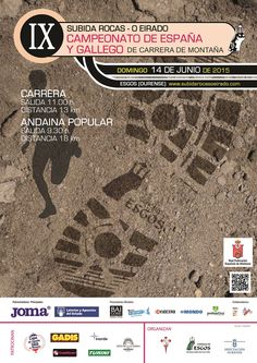 El próximo 14 de junio se disputa en Esgos (Ourense) el Campeonato de España de Carrera de Montaña. Éste es su cartel oficial. Más información sobre la prueba: http://www.rfea.es/web/competiciones/campeonato.asp?codigo=2015RF074