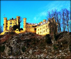 Hohenschwangau Castle - Bavaria, Germany - Elisabeth Lander ©2016 - this was King Ludwig's place before he built the fairytale castle Neuschwanstein just across the way. He was insane.