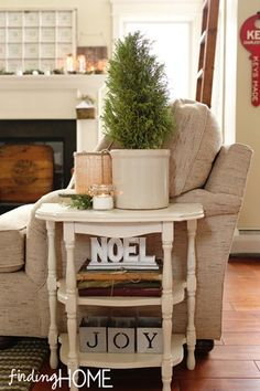 Christmas Noel Side table...actually, I just want this side table period!