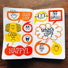 torufukuda.com Modern Graphic Design, Retro Design, Cute Illustration, Graphic Design Illustration, Drawing For Kids, Art For Kids, Brush Lettering Quotes, Happy Art, Cartoon Styles