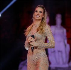 Big Brother host Ilari Blasi, married to striker Francesco Totti Formal Dresses, Brother, Image, Big, Fashion, Long Dress Formal, Gowns, Dresses For Formal, Moda