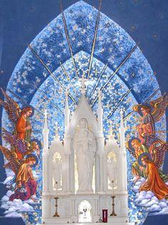 St. Joseph Church, Macon, Georgia, mural by Renate Rohn
