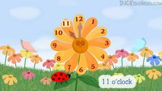 Learning to Tell Time -The Flower Clock Children's Song