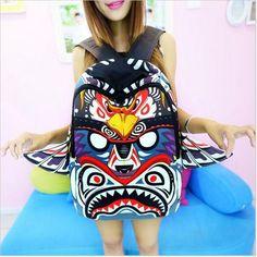 Eagle 3D Owl Backpack Wings Female Tribe Cartoon Bags