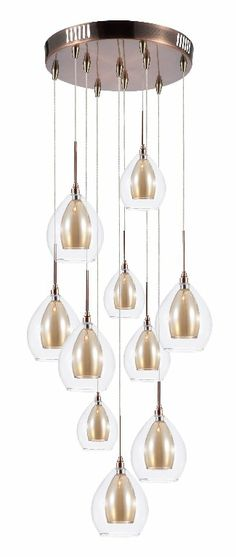BHS Carmella Multi-drop Pendant Light #BHSilluminate #lighting #industrial